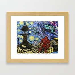 Starry Black Hole Framed Art Print