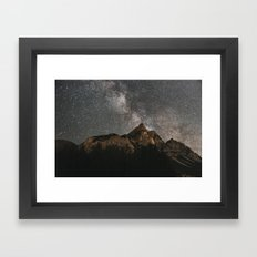 Milky Way Over Mountains - Landscape Photography Framed Art Print