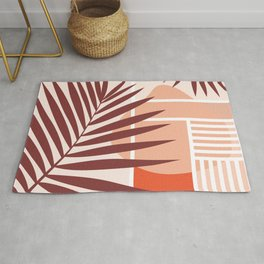 Sunset in Miami / Earth-tones abstraction Rug