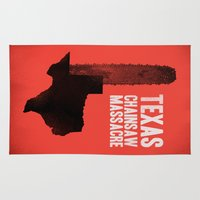 gore Area & Throw Rugs featuring Texas Chainsaw Massacre by Wharton