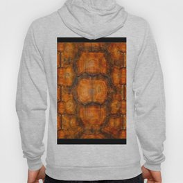 TEXTURED NATURAL ORGANIC TURTLE SHELL PATTERN Hoody