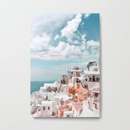 Santorini, Oia Metal Print