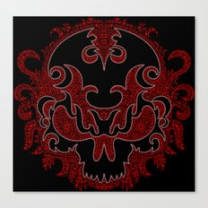 Killer Skull Red Canvas Print