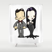 cara Shower Curtains featuring Cara Mia! by Space Bat designs