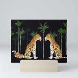 Jaguar in wild Mini Art Print