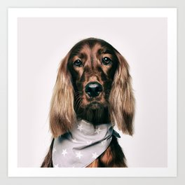 Fashionable spaniel doggo Art Print