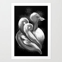 BW Swan - Mazuir Ross Art Print