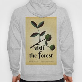 Visit The Forest Government poster Hoody