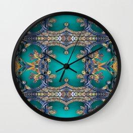 Boujee Boho Teal Copper Fairy Tale Fantasy Wall Clock