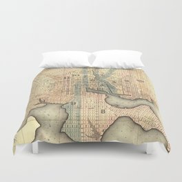 Vintage Map of Baltimore Maryland (1822) Duvet Cover