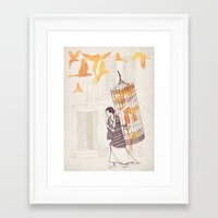 frida Framed Art Prints featuring Frida by David Fleck