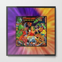 ASTROID ANNIEframed Metal Print