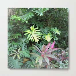 Tropical Garden Paradise 1 Metal Print