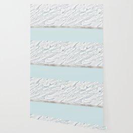 Calacatta verde - silver turquoise Wallpaper