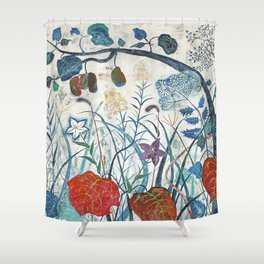 nature【Japanese painting】 Shower Curtain
