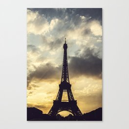 Paris at Sunset.  Canvas Print