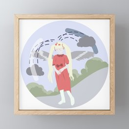 Nature-girl in globe Framed Mini Art Print