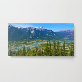 Overlooking the Athabasca River from the Morrow Peak Hike in Jasper National Park, Canada Metal Print