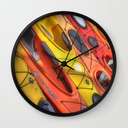 Kayak Art Wall Clock