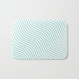 Tirquaz wavy modern lines Bath Mat