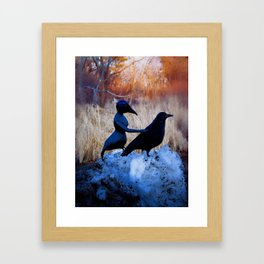 Crow People Framed Art Print