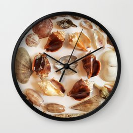 Conch Ring with Wing Oysters Wall Clock