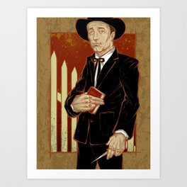 Robert Mitchum - Night of the Hunter Art Print