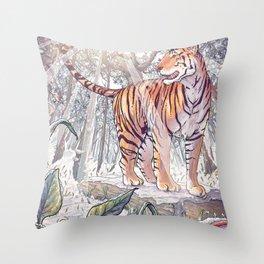 Spring Tigress Throw Pillow