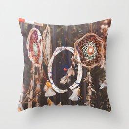 Dream Catcher (Color) Throw Pillow