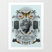 rorschach Art Prints featuring Rorschach by Dreck Design