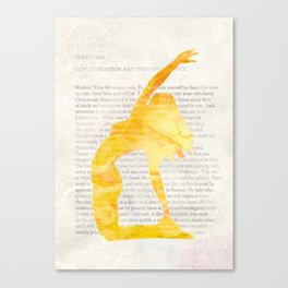 Yoga Teacher Canvas Print