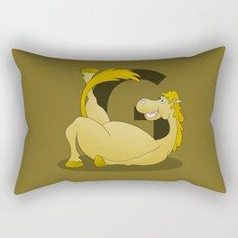 Pony Monogram Letter G Rectangular Pillow