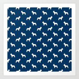 Boston Terrier silhouette pet art dog pattern boston terrier pattern Art Print
