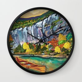 Buffalo National River Art by Sarah Bliss Rasul Wall Clock