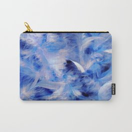 Blue Plumes Carry-All Pouch