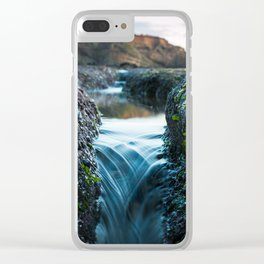 Tide Pool Waterfall Clear iPhone Case