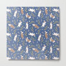 Sleeping Corgi pattern #3 Metal Print