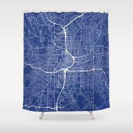 Atlanta Map, USA - Blue Shower Curtain