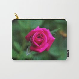 Tiny Pink Rose Carry-All Pouch