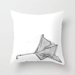 broken umbrella Throw Pillow