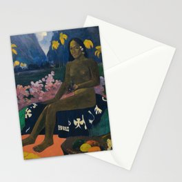 The seed of the Areoi (Te aa no areois) - Paul Gauguin (1892) Stationery Cards