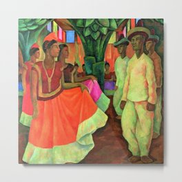 Dance in Tehuantepec by Diego Rivera Metal Print