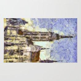 The Church Vincent Van Gogh Rug