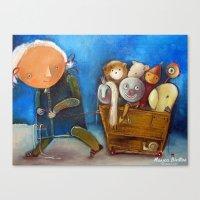 trip Canvas Prints featuring Trip by Monica Blatton