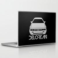 delorean Laptop & iPad Skins featuring DeLorean DMC–12 - silver - by Vehicle