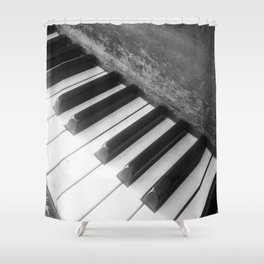 Piano Scars Shower Curtain