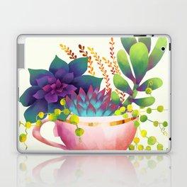 Teacup Succulent Garden Laptop & iPad Skin
