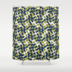 odrina (lime/navy) Shower Curtain