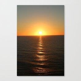 Caribbean, Sunset, Sea, Grand Turk Island, Photography, BebiCervin Canvas Print