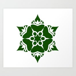 Green Ornament Art Print